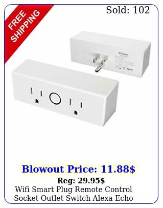 wifi smart plug remote control socket outlet switch alexa echo google hom