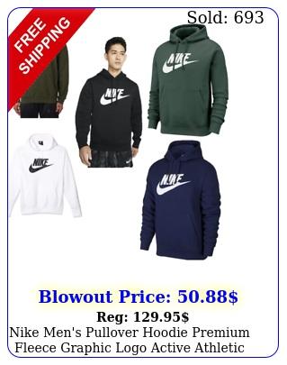 nike men's pullover hoodie premium fleece graphic logo active athletic wea