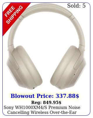 sony whxms premium noise cancelling wireless overtheear headphones op