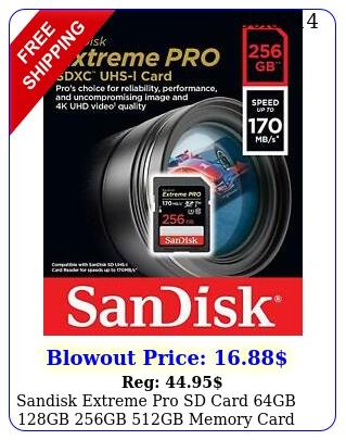 sandisk extreme pro sd card gb gb gb gb memory card sony panasoni