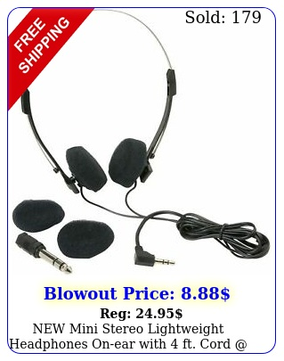 mini stereo lightweight headphones onear with ft cord free fast shi