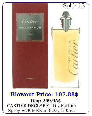 cartier declaration parfum spray men oz  ml brand item seale