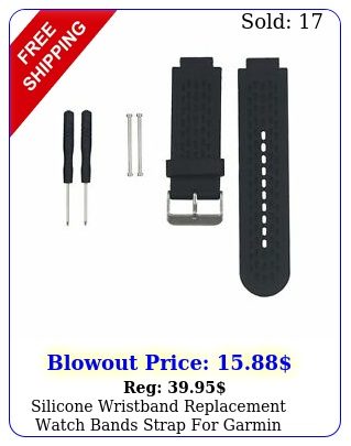 silicone wristband replacement watch bands strap garmin approach ss blac