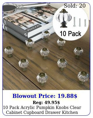 pack acrylic pumpkin knobs clear cabinet cupboard drawer kitchen pull handl