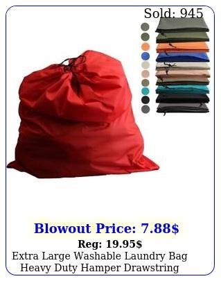extra large washable laundry bag heavy duty hamper drawstring college