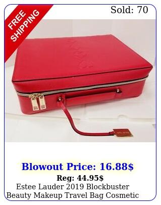 estee lauder blockbuster beauty makeup travel bag cosmetic bag train cas