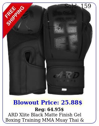 ard xlite black matte finish gel boxing training mma muay thai punching glove