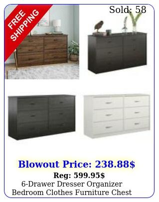 drawer dresser organizer bedroom clothes furniture chest white black brow