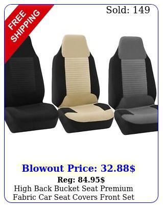high back bucket seat premium fabric car seat covers front set universal fi