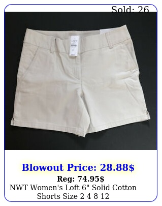 nwt women's loft solid cotton shorts size