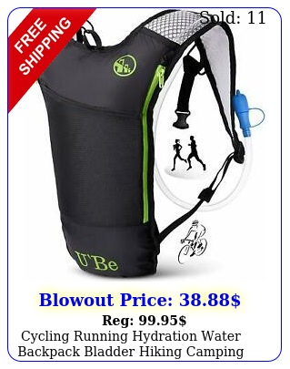 cycling running hydration water backpack bladder hiking camping pack camel bac