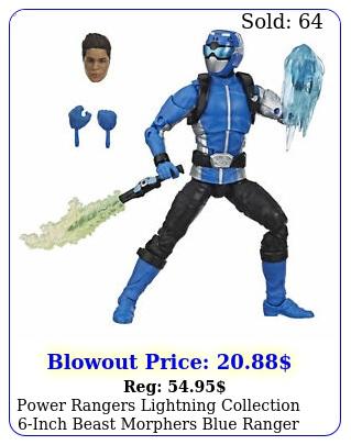 power rangers lightning collection inch beast morphers blue range