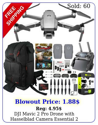 dji mavic pro drone with hasselblad camera essential battery backpack bundl