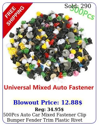 pcs auto car mixed fastener clip bumper fender trim plastic rivet door pane