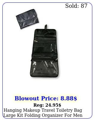hanging makeup travel toiletry bag large kit folding organizer men wome
