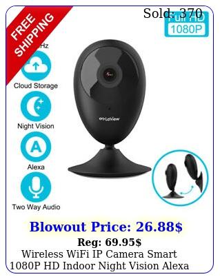 wireless wifi ip camera smart p hd indoor night vision alexa home securit