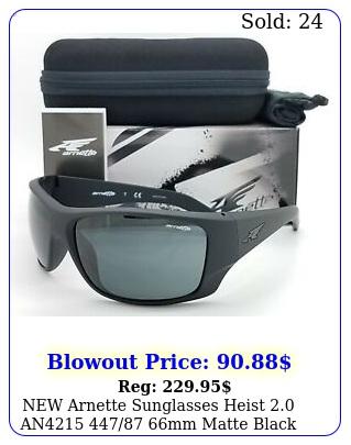 arnette sunglasses heist an mm matte black grey authenti