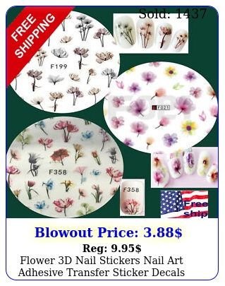 flower d nail stickers nail art adhesive transfer sticker decals tips us selle