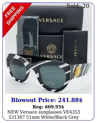 versace sunglasses ve mm whiteblack grey green authenti