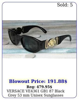 versace ve gb black grey mm unisex sunglasse