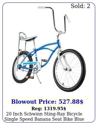 inch schwinn stingray bicycle single speed banana seat bike blu