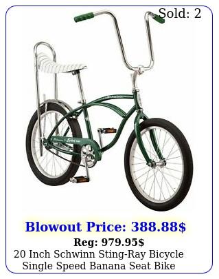 inch schwinn stingray bicycle single speed banana seat bike gree