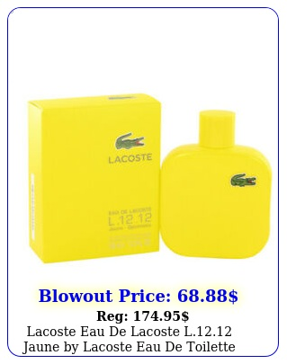 lacoste eau de lacoste l jaune by lacoste eau de toilette spray oz fo