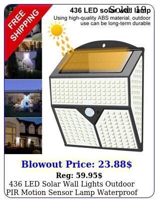 led solar wall lights outdoor pir motion sensor lamp waterproof garde