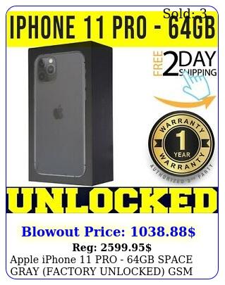 apple iphone pro gb space gray factory unlocked gsm cdma seale