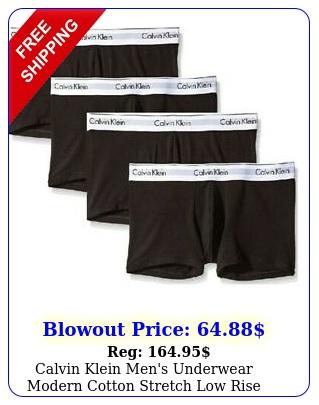 calvin klein men's underwear modern cotton stretch low rise boxer trunks pac