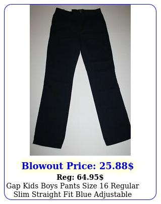 gap kids boys pants size regular slim straight fit blue adjustable wais
