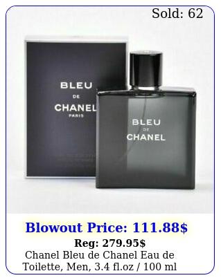 chanel bleu de chanel eau de toilette men floz  ml brand ne