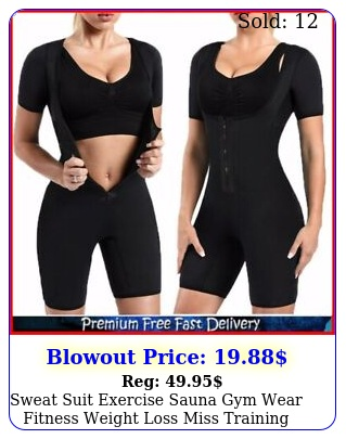 sweat suit exercise sauna gym wear fitness weight loss miss training belt shir
