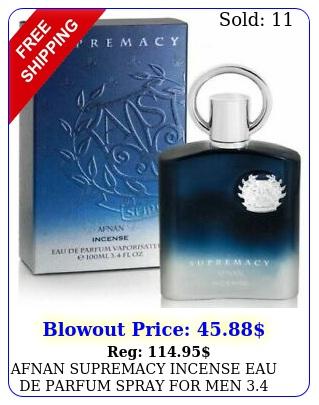afnan supremacy incense eau de parfum spray men oz  ml brand ne