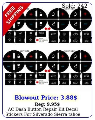 ac dash button repair kit decal stickers silverado sierra tahoe chevrole