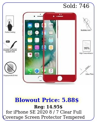 iphone se   clear full coverage screen protector tempered glass re