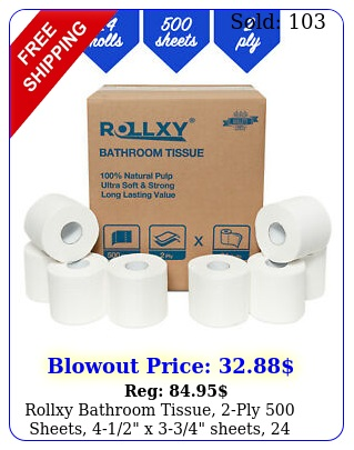 rollxy bathroom tissue ply sheets x sheets roll