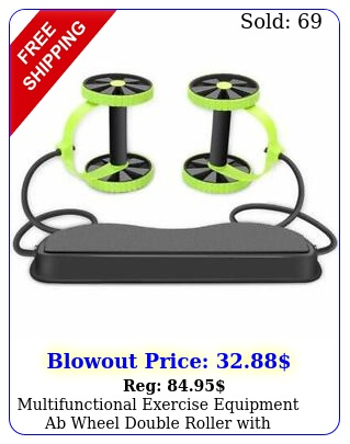multifunctional exercise equipment ab wheel double roller with resistance band
