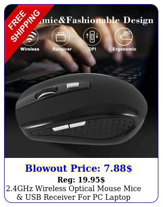 ghz wireless optical mouse mice usb receiver pc laptop computer dpi u
