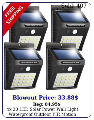 x led solar power wall light waterproof outdoor pir motion sensor path lam