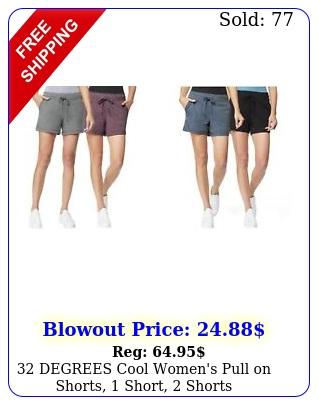 degrees cool women's pull on shorts short short