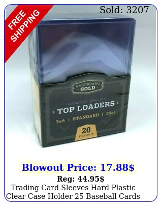 trading card sleeves hard plastic clear case holder baseball cards toploa