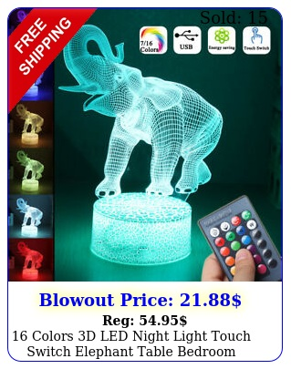 colors d led night light touch switch elephant table bedroom lamp hom