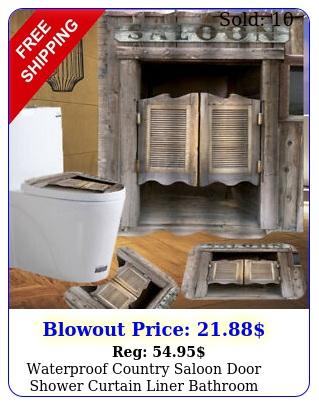waterproof country saloon door shower curtain liner bathroom toilet cover rug u