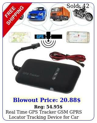 real time gps tracker gsm gprs locator tracking device car vehicle moto bik