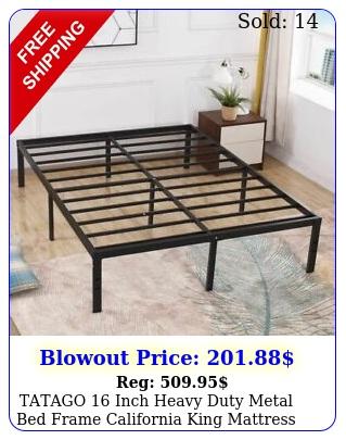 tatago inch heavy duty metal bed frame california king mattress foundation u