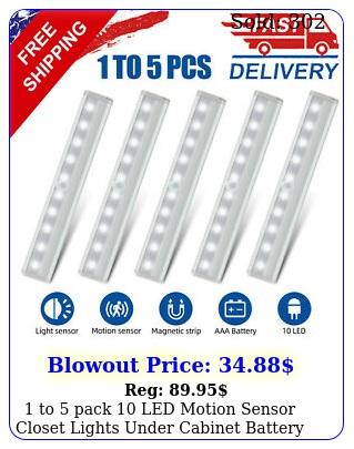 to pack led motion sensor closet lights under cabinet battery night ligh