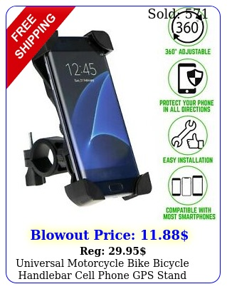 universal motorcycle bike bicycle handlebar cell phone gps stand holder moun