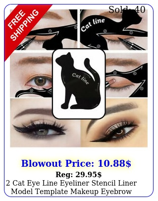 cat eye line eyeliner stencil liner model template makeup eyebrow tool ki