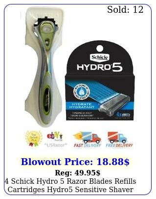 schick hydro razor blades refills cartridges hydro sensitive shaver handl